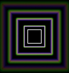 Shiny concentric squares corridor vector