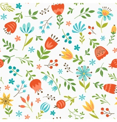 Spring floral pattern vector image vector image