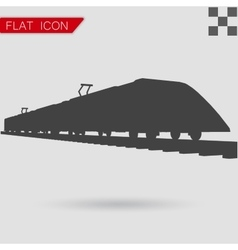 Train Icon Flat Style vector image vector image