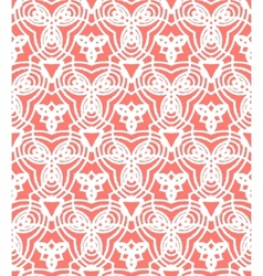 Vintage art deco pattern in coral red vector