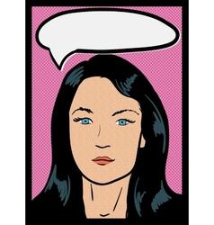Vintage comic girl vector