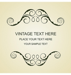 vintage template vector image