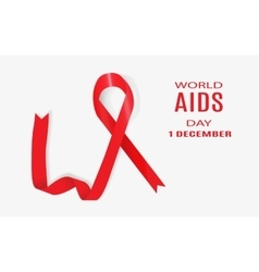 World AIDS Day 1 December vector image