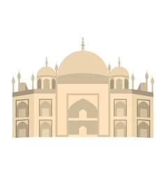 Castle tower isolated icon vector