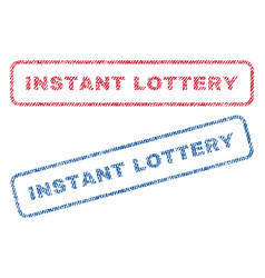 Instant lottery textile stamps vector