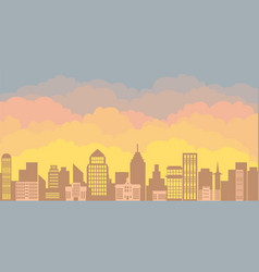 panorama landscape of the morning silhouette of vector image