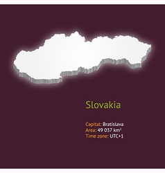 3d map of slovakia vector
