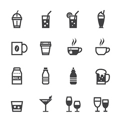 Drink icons and beverages icons vector