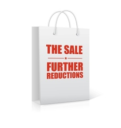 The sale further reductions shopping bag vector