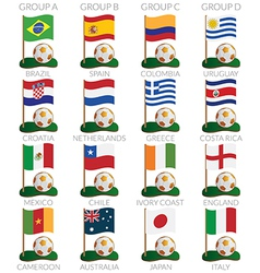 soccer cup icons vector image