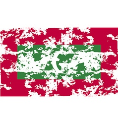 Flag of maldives with old texture vector
