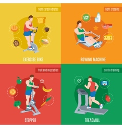 Exercise machines set vector