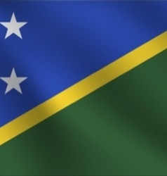 Solomon islands flag vector