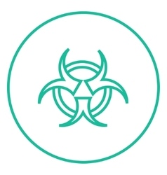 Bio hazard sign line icon vector