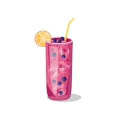 Cold alcohol coctail vector