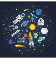 Space exploration round design vector