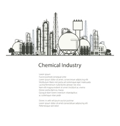 Industrial chemical plant isolated vector
