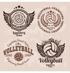 Basketball Logos American Logo Sports vector image vector image