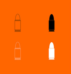 bullets simple icon vector image vector image