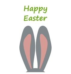 Bunny ears postcard happy easter vector