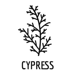Cypress leaf icon simple black style vector