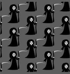 Death halloween costume pattern vector