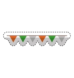 Decorative garland isolated icon vector