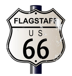 Flagstaff route 66 sign vector