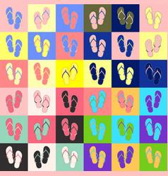 flip-flop set vector image