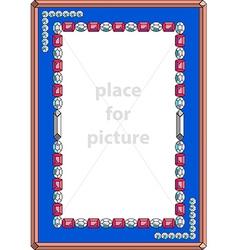 Frame with precious stones vector