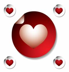 heart sticker vector image vector image