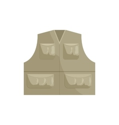 Hunting vest icon cartoon style vector