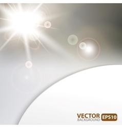 Monochrome background with sunburst flare vector image