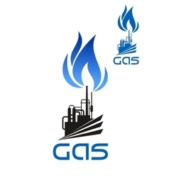 Natural gas industrial processing icon vector