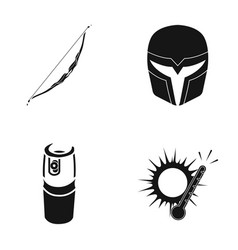 Onion mask and other web icon in black style vector