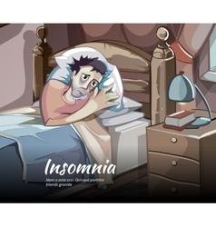 Sleepless character vector image