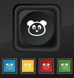Teddy Bear icon symbol Set of five colorful vector image
