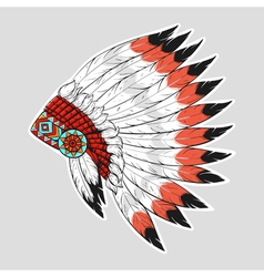 Colorful of native american war bonnet design for vector