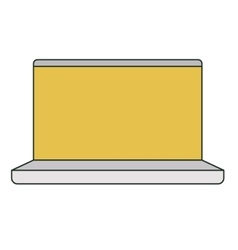 Isolated laptop device design vector