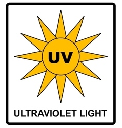 Intensity ultraviolet light protect your eyes uv vector