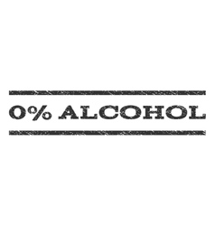 0 percent alcohol watermark stamp vector