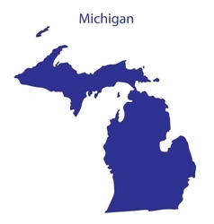 United states michigan vector