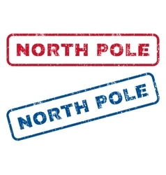 North pole rubber stamps vector