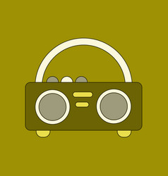 flat icon on background tape recorder vector image