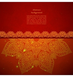 Vintage indian ornament vector