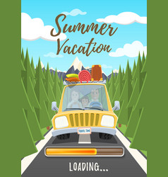 Summer vacation loading poster vector