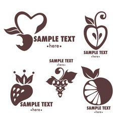 Fruits emblems vector