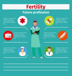 Future profession fertility infographic vector