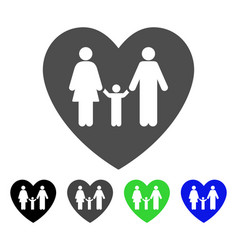 Family love heart rounded icon Royalty Free Vector Image