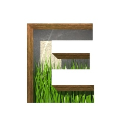 Grass cutted figure e paste to any background vector